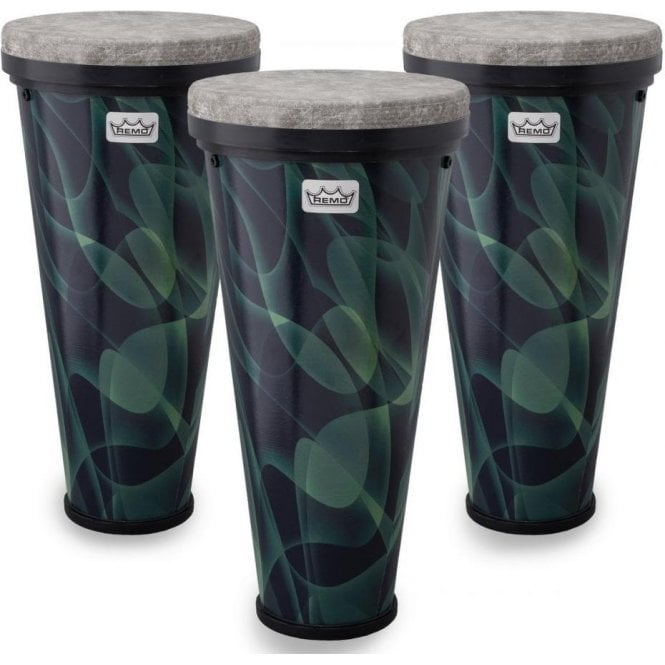 Remo 3 x Remo Versa Timbau Drums - Green