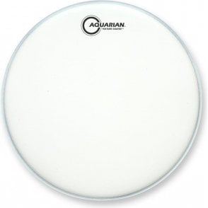 Aquarian Texture Coated Finish White Drum Heads