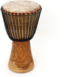 "Bucara 13"" Carved Cedar Wood Djembe"