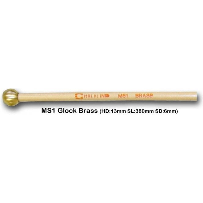 Chalklin MS1 Glockenspiel Brass Head Mallets (pair)