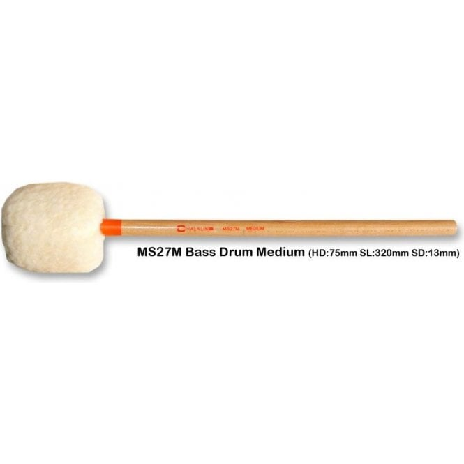 Chalklin MS27M Bass Drum Mallets - Medium (pair)