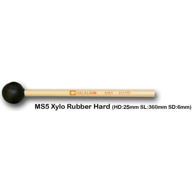 Chalklin MS5 Xylophone Mallets - Hard Rubber (pair)
