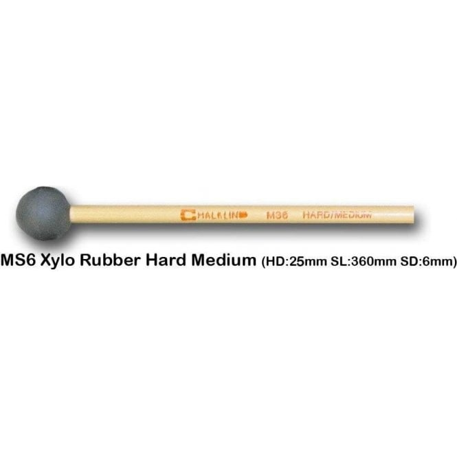 Chalklin MS6 Xylophone Mallets - Hard Medium Rubber (pair)