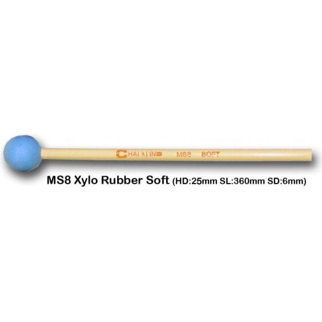 Chalklin MS8 Xylophone Mallets - Soft Rubber (pair)