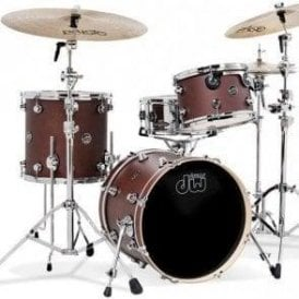 DW USA Performance Series Be Bop Kit - Tobacco Satin Oil Finish + FREE Signed Pink Floyd Albums & Nick Mason Sticks!!!!