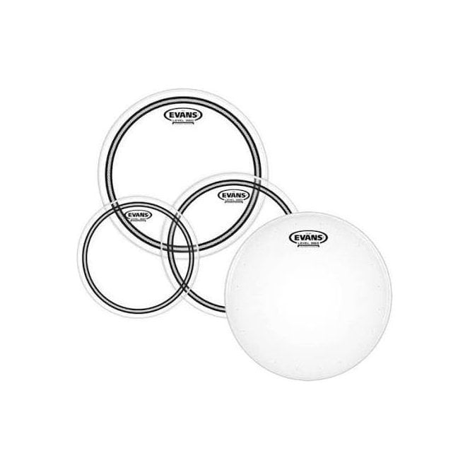 "Evans EC2S Clear Fusion Pack (10"", 12"", 14"") with 14"" HD Dry Snare Batter"