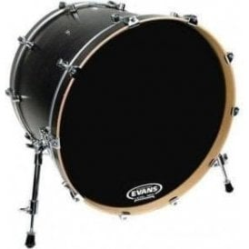 Evans EQ3 Resonant Black Front Bass Drum Heads - No Port