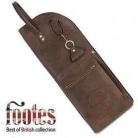 Footes Leather Drum Stick Case - Brown