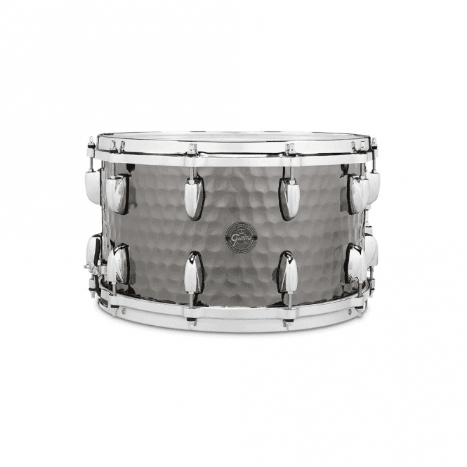 Gretsch 14 x 8 Hammered Steel Snare Drum S10814BSH | Buy at Footesmusic