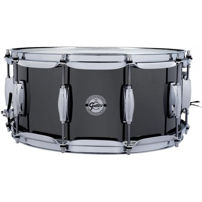 Gretsch 14x6.5 Black Nickel Finish Steel Snare Drum S16514BNS | Buy at Footesmusic