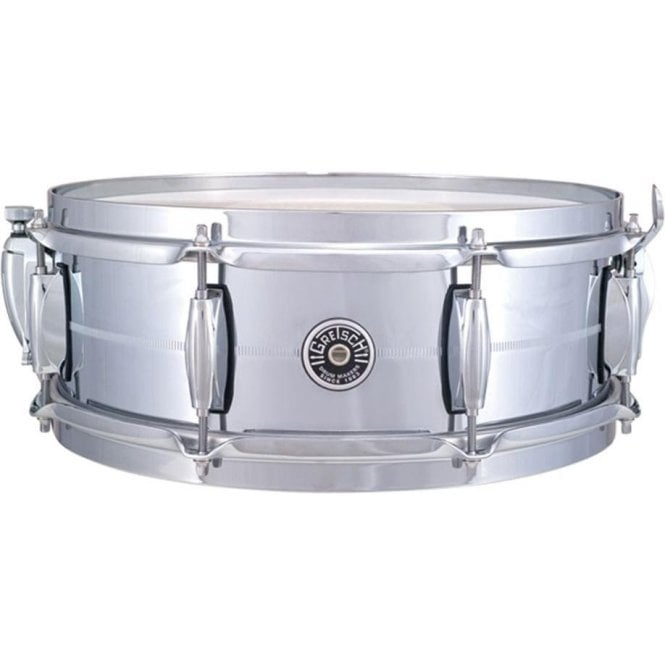 Gretsch Brooklyn USA 14 x 5 Chrome On Brass Snare Drum GB4160 | Buy at Footesmusic
