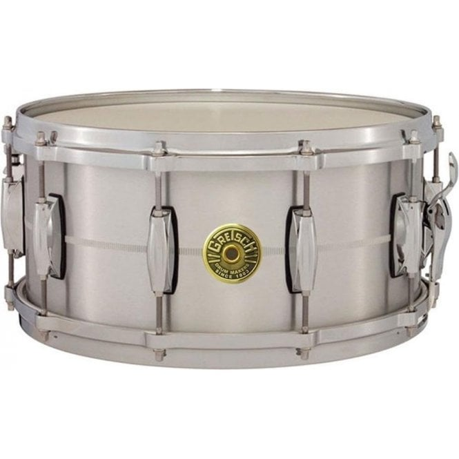 Gretsch USA Custom 14 x 6.5 Chrome On Brass Snare Drum G4164 | Buy at Footesmusic