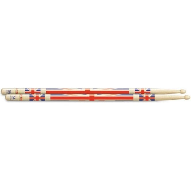 Hot Sticks Union Jack 5A Drum Sticks (pair)