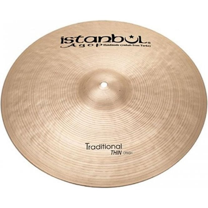 "Istanbul Agop Istanbul Traditional 18"" Thin Crash Cymbal ITHC18 