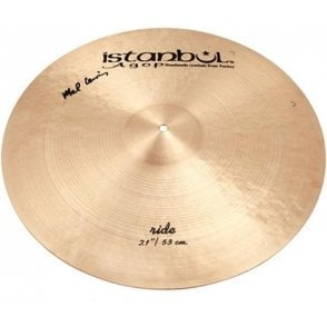 "Istanbul Mel Lewis 21"" Ride with rivets Cymbal"