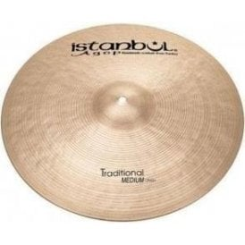 "Istanbul Traditional 14"" Medium Crash Cymbal"