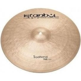 "Istanbul Traditional 14"" Thin Crash Cymbal"