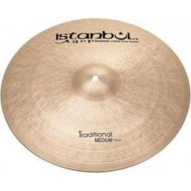 "Istanbul Traditional 16"" Medium Crash Cymbal"