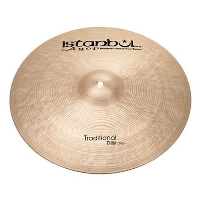 "Istanbul Agop Istanbul Traditional 16"" Thin Crash Cymbal"