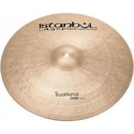"Istanbul Traditional 17"" Dark Crash Cymbal"