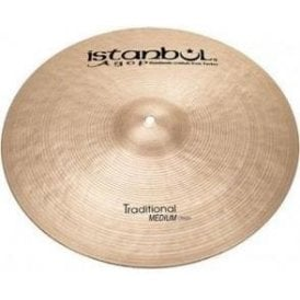 "Istanbul Traditional 17"" Medium Crash Cymbal"
