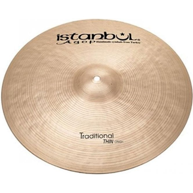 "Istanbul Traditional 17"" Thin Crash Cymbal"