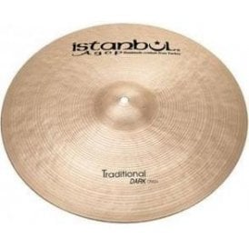 "Istanbul Traditional 18"" Dark Crash Cymbal"