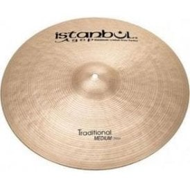 "Istanbul Traditional 18"" Medium Crash Cymbal"