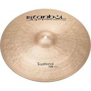 "Istanbul Traditional 18"" Thin Crash Cymbal"