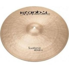 "Istanbul Traditional 20"" Medium Ride Cymbal"