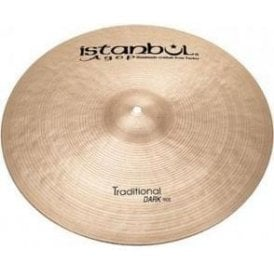"Istanbul Traditional 21"" Dark Ride Cymbal"