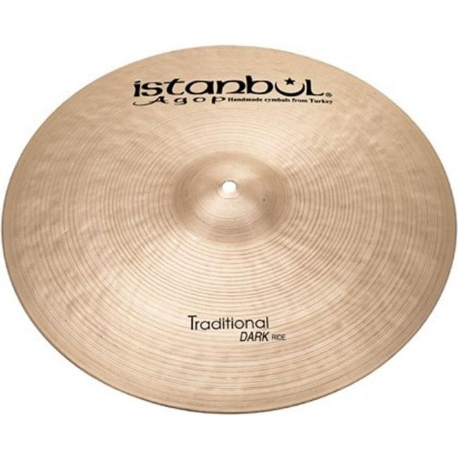 "Istanbul Traditional 22"" Dark Ride Cymbal"
