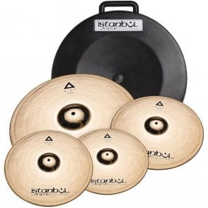 "Istanbul Xist Cymbal Set - Brilliant finish + Free 18"" Crash"
