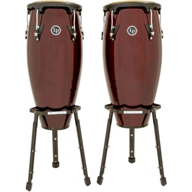 "LP Aspire Conga Set 11"" & 12"" Inc Stands Dark Wood Finish LPA647BDW 