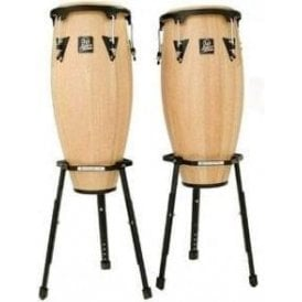 "LP Aspire Conga Set LPA646BAW - 10"" & 11"" Inc Stands - Natural Finish"