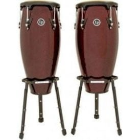 "LP Aspire Conga Set LPA646BDW - 10"" & 11"" Inc Stands - Dark Wood Finish"