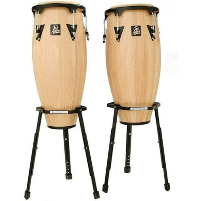 "LP Aspire Conga Set LPA647BAW - 11"" & 12"" Inc Stands - Natural Finish"