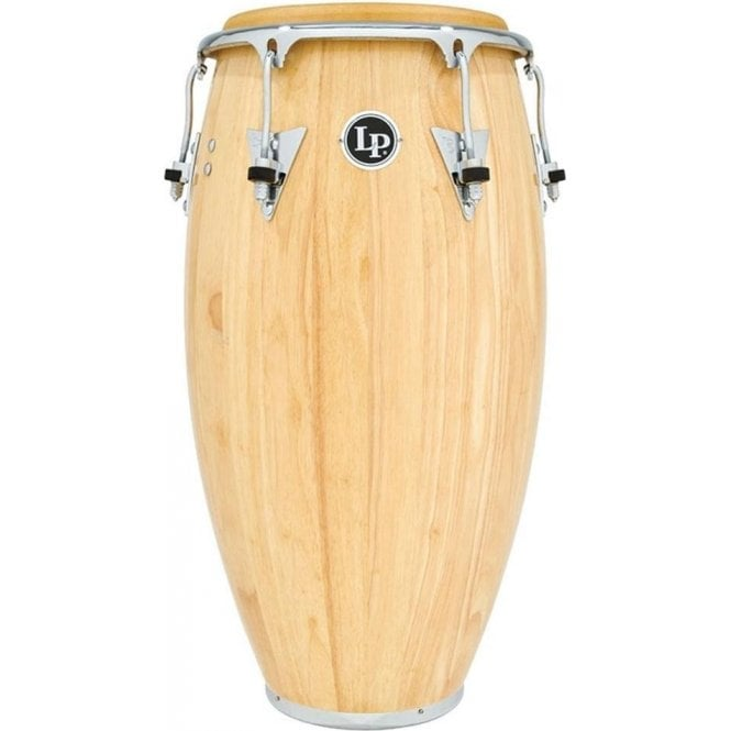 "LP Classic Wood Conga 11.75"" Conga Natural Finish with Chrome Fittings LP559XAWC 