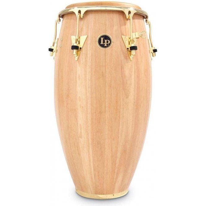 "LP Classic Wood Conga 11.75"" Conga Natural Finish with Gold Fittings LP559XAW 