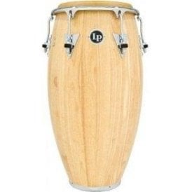 "LP Classic Wood Conga LP552XAWC - 12.5"" Tumba Natural Finish with Chrome Fittings"