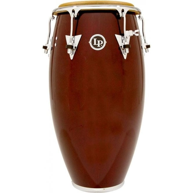 "LP Classic Wood Conga LP552XDW - 12.5"" Tumba Wine Red Finish with Chrome Fittings"