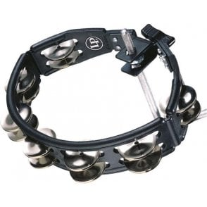 LP Cyclops Mountable Tambourine LP160 - Black With Steel Jingles