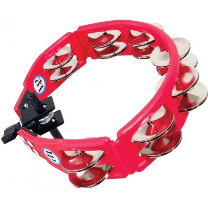 LP Cyclops Mountable Tambourine LP161  Red With Steel Jingles | Buy at Footesmusic