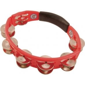 LP Cyclops Tambourine LP151 - Red With Steel Jingles