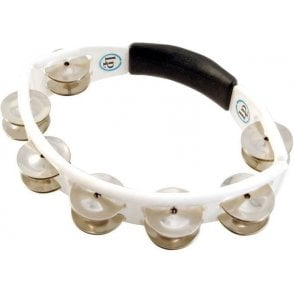 LP Cyclops Tambourine LP152 White With Steel Jingles | Buy at Footesmusic