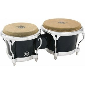 LP Fibreglass Model Bongos - Black Finish LP200XFBK