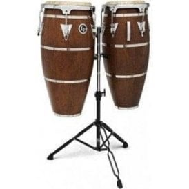 LP Highline Congas LPH646SMC Inc Stand Mahogany Finish