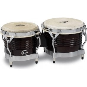 LP Matador Wood Bongos - Dark Brown Finish M201