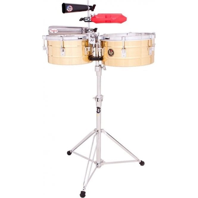 """LP Tito Puente 12"""" & 13"""" Brass Shell Timbales LP255B"""