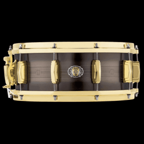 Ludwig 14x5.5 Heirloom Black Brass 110th Anniversary Snare Drum LBR5514CX | Buy at Footesmusic